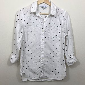 Old Navy Classic Polka Dot Button Down Shirt
